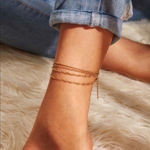 4 Layer Gold Multi Chain Anklet or Bracelet